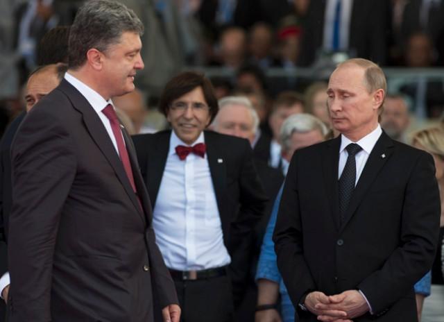 Путин впервые встретится с Порошенко после крымских диверсий