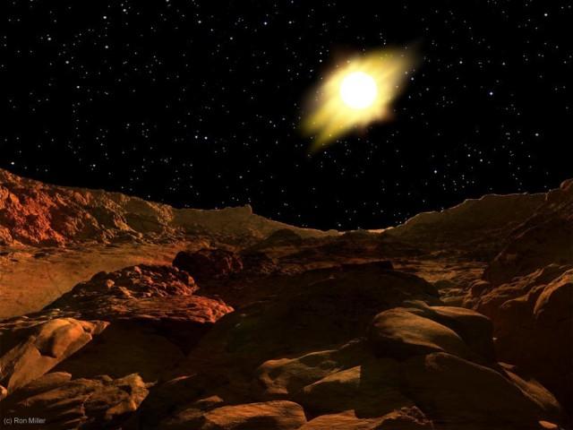 Рассвет в солнечной системе