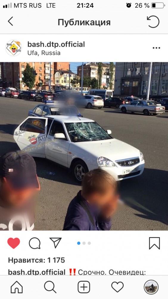 В Уфе неизвестный открыл стрельбу по машине с людьми