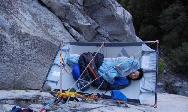 Беременная с ночевкой в палатке