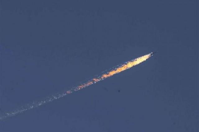 Тело пилота сбитого Су-24 в Турции