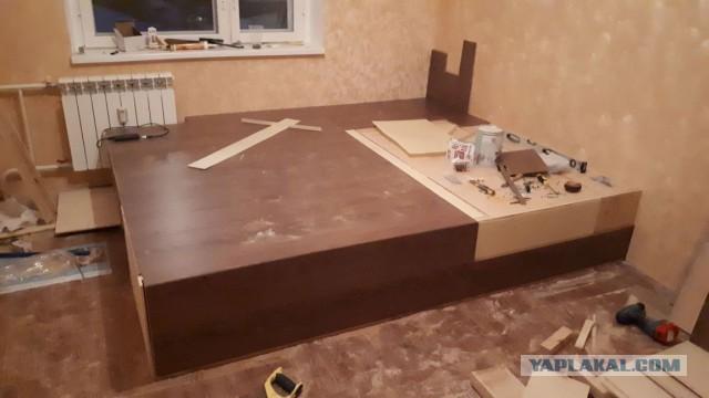 Подиум-кровать своими руками