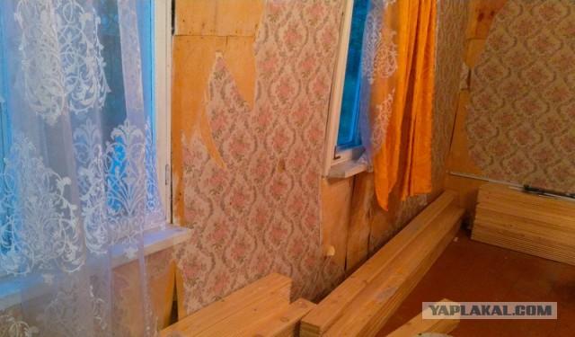 Обшивка дачной комнаты вагонкой