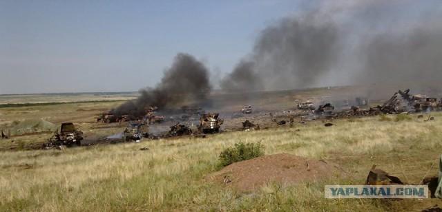 Аэромобильная бригада попала под артобстрел.