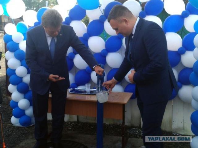 В Томске торжественно открыли колонку с водой