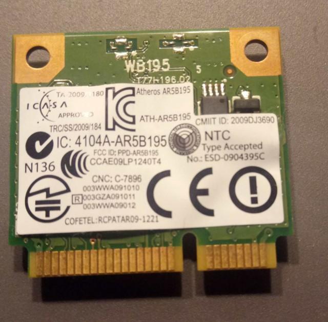 Wi-Fi mini PCI-E Atheros AR5B195