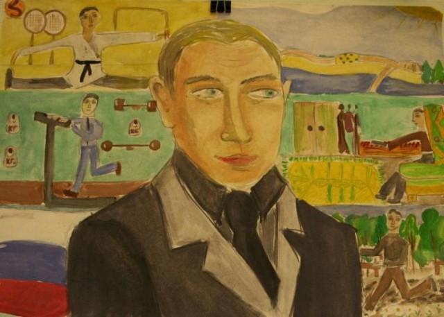 Дети рисуют Ленина... а, нет - Путина