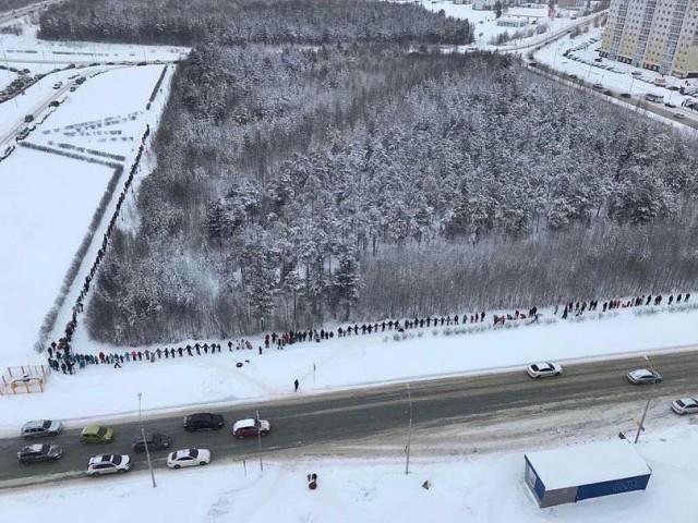 Вчера на месте предполагаемого строительства нового автовокзала прошел флешмоб против возведения объекта