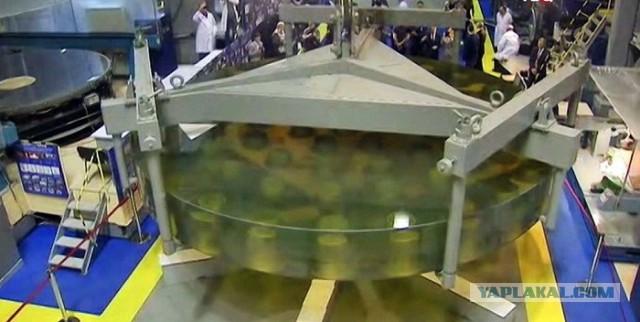 ОАО «ЛЗОС» передало Российской академии наук главное зеркало телескопа БТА