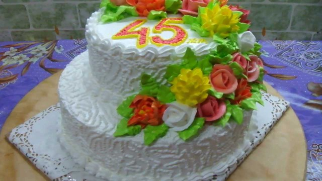 Торты с 45 лет юбилеем с фото