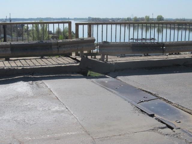 Дырявый мост в Астрахани