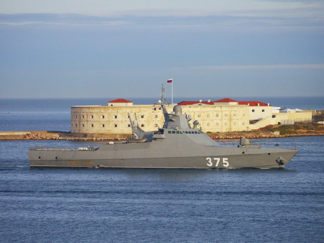 В Крыму проходит испытания новейший российский большой патрульный корабль