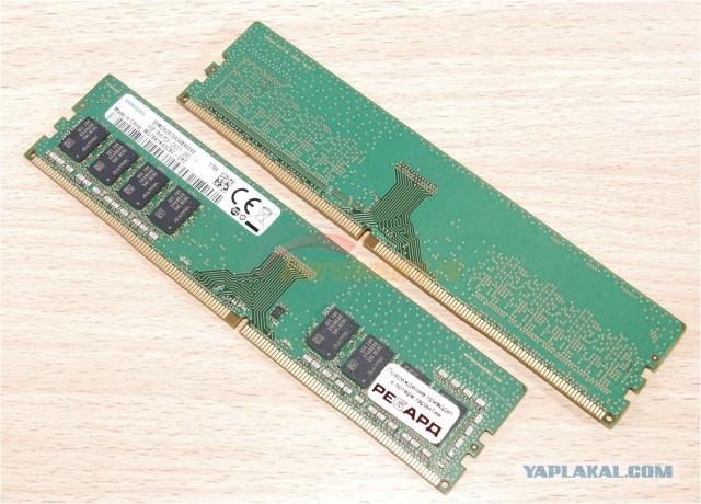 2 модуля памяти SAMSUNG 8GB DDR4-2400 идеал.сост