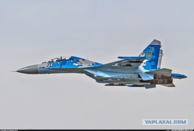 Упал Су-27 (не наш)