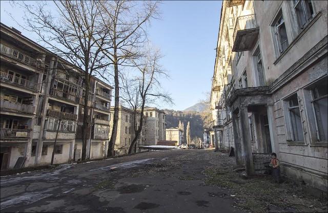 Город-призрак Акармара. Абхазия.