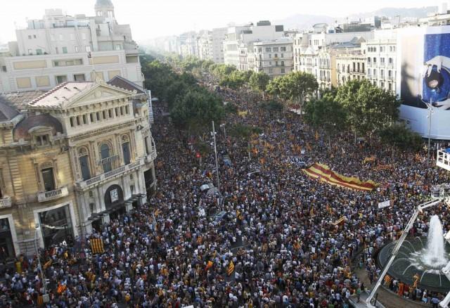 Миллионная демонстрация: Каталония против Испании