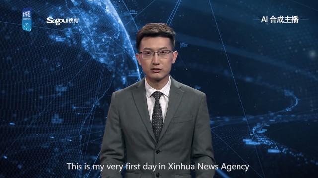 В Китае создан первый искусственный ведущий новостей.