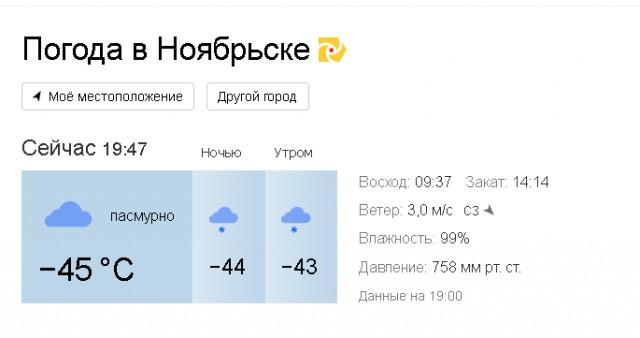 Погода в губкинском янао на 3 дня