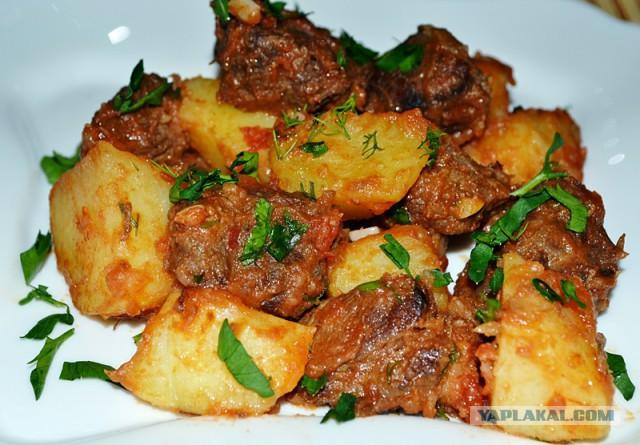 Картошка с мясом говядина в духовке в фольге рецепты