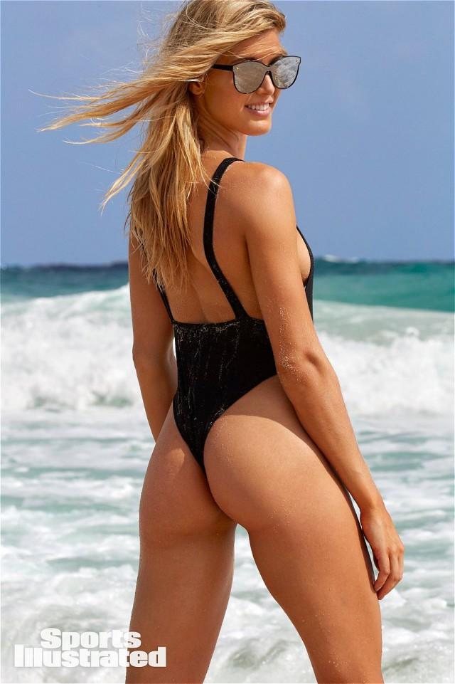 Канадская теннисистка Эжени Бушар вновь снялась в эротической фотосессии для Sports Illustratedна острове Аруба