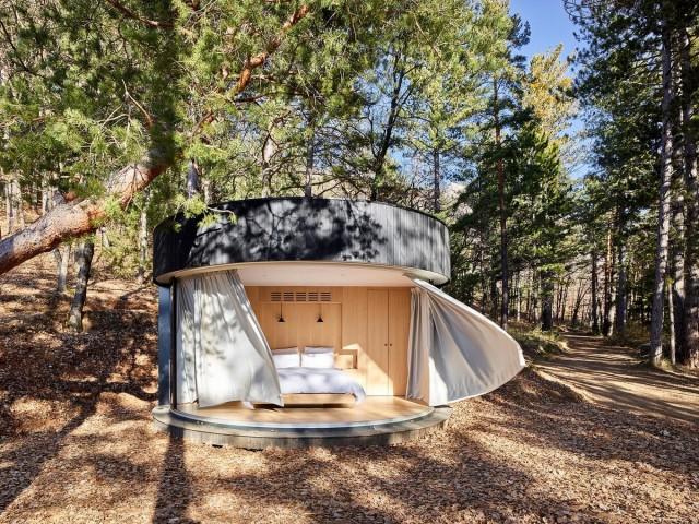 Компактный модульный дом во французских Альпах