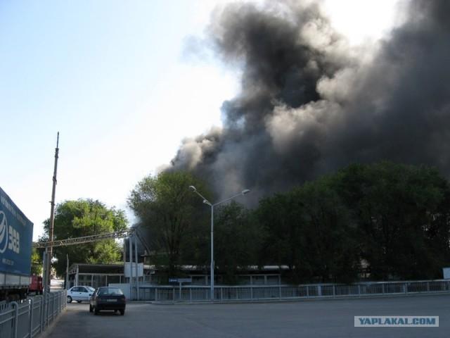 Пожар на автозаводе ЗАЗ