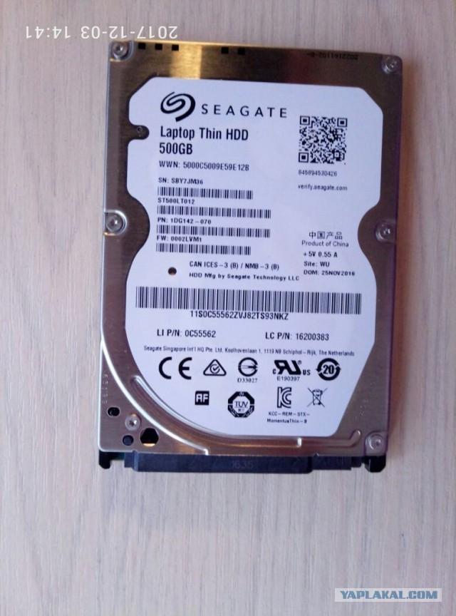 Жесткий диск Seagate Momentus Thin ST500LT012 500 ГБ  Москва\Почта
