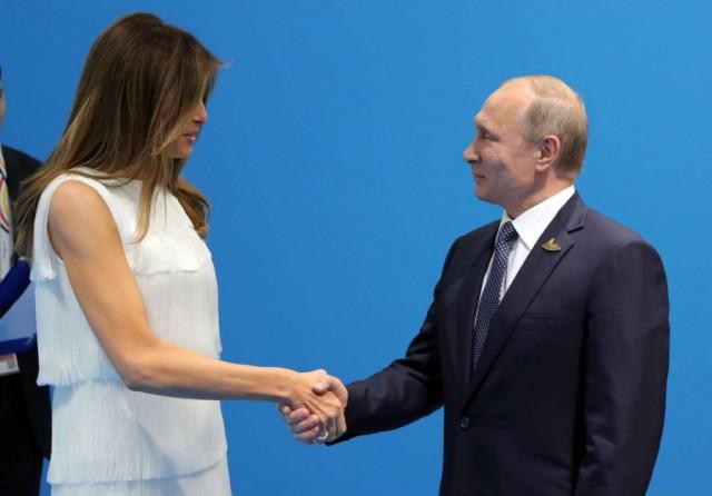 Стало известно, о чём говорили президент РФ и Меланья Трамп