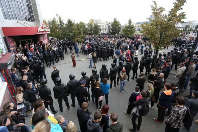 Сегодняшний митинг в Челябинске.(Прямая трансляция)