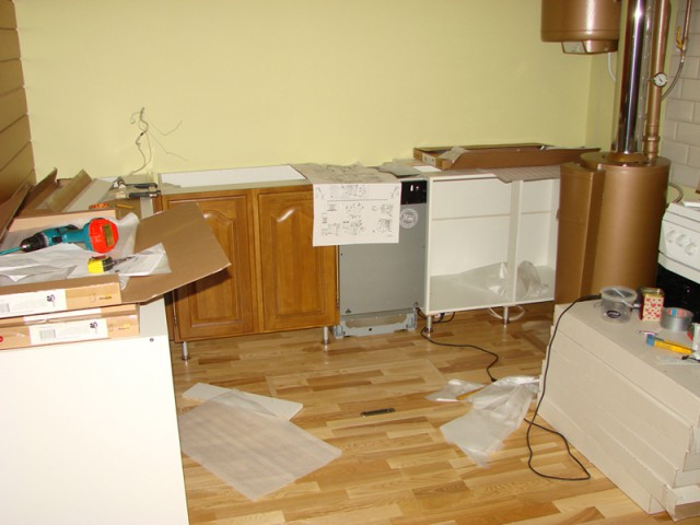 Капремонт дома ч.2 кухня.