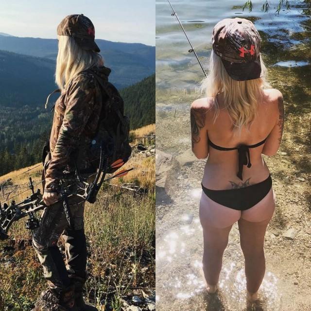Девушки в спецодежде, одежде и без неё