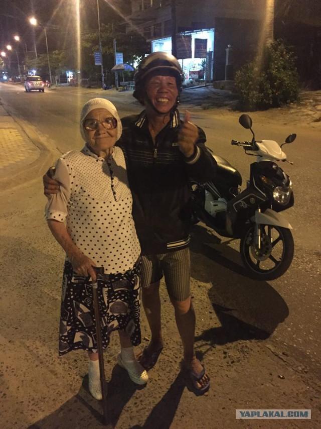 89-Летняя бабулька из Красноярска путешествует одна, во Вьетнаме и не только...