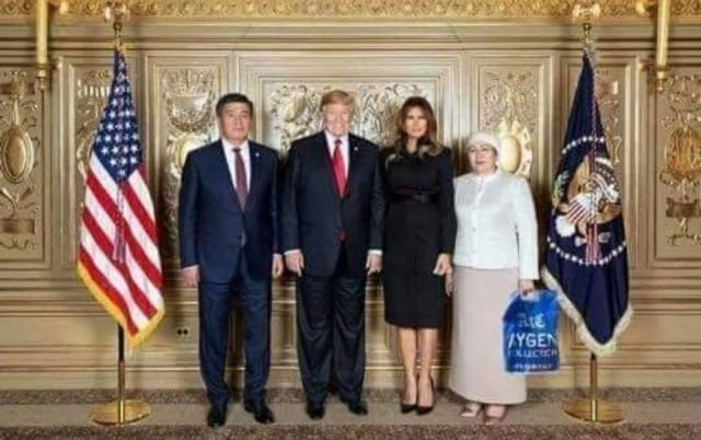 Фото президента Киргизии с женой в США.