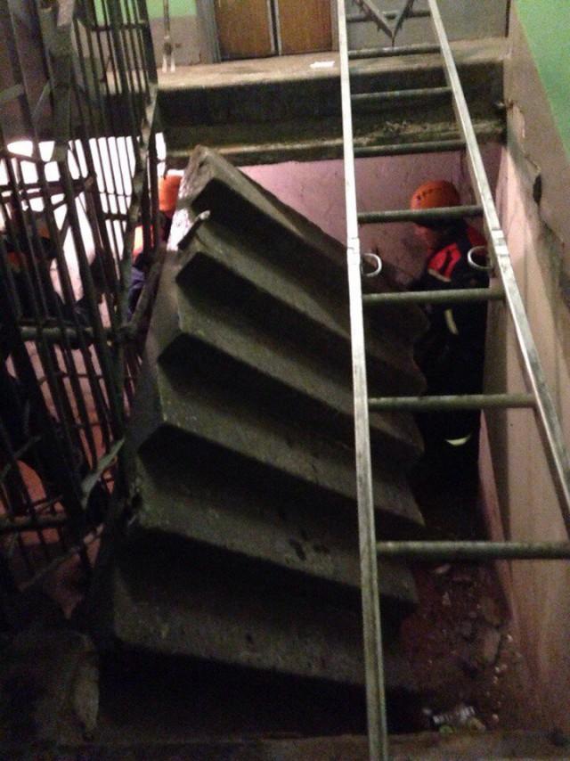 В жилом доме в Санкт-Петербурге обвалился пролёт