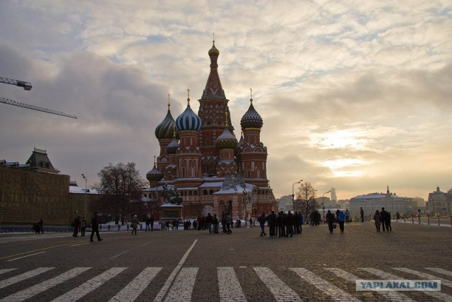 Москва. Утро. 1 января