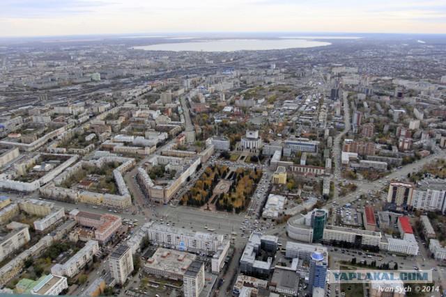 Челябинск с высоты 400 метров