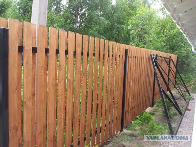 Забор из евроштакетника + ворота / калитка под ключ Сп-б