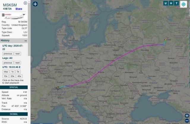 Самолет жены Медведева улетел вЦюрих. Авиасообщение соШвейцарией досих пор закрыто