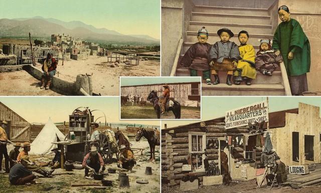 120-летние цветные фотографии показывают жизнь настоящего Дикого Запада