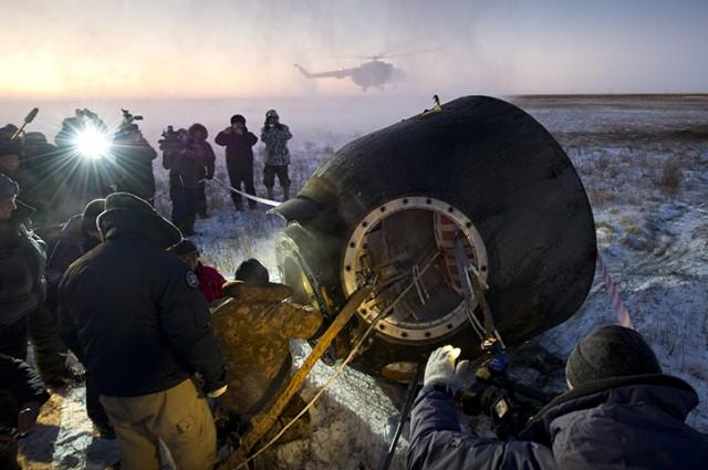 Капсула «Союз» приземлилась в Казахстане
