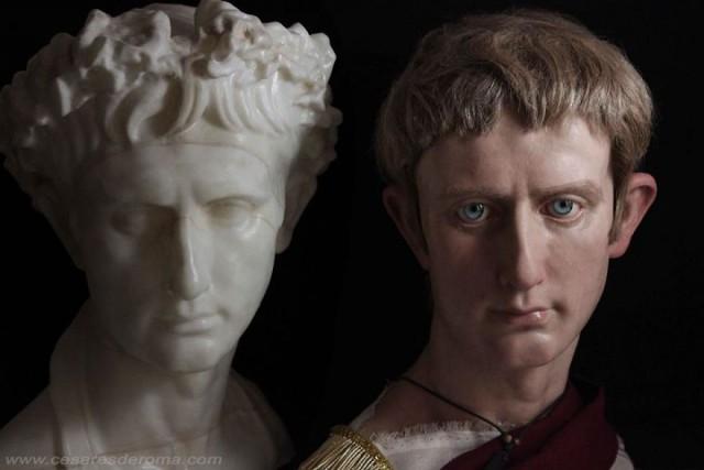 Лица римских императоров.