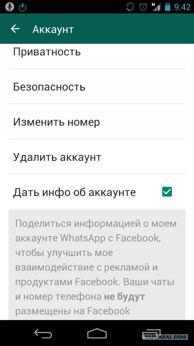 FaceBook купил WhatsApp и встроил в него свои шпионы