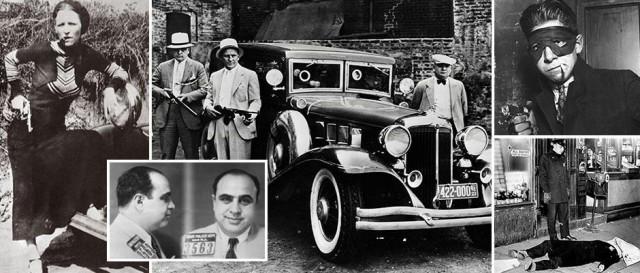 Черно-белые фотографии жестокого мира гангстеров Америки 1930-х годов