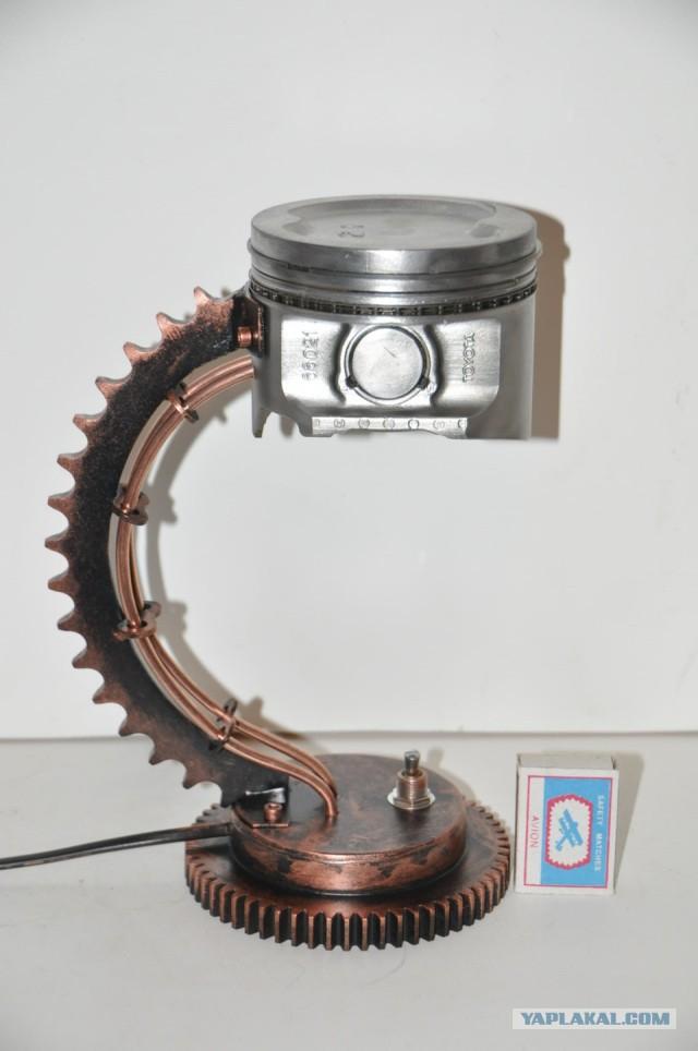 Поделки из деталей двигателя 33