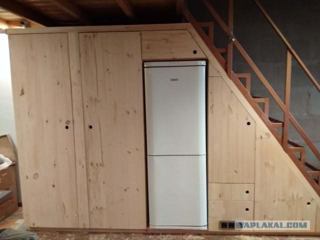 Строю шкаф под лестницу из мебельных щитов