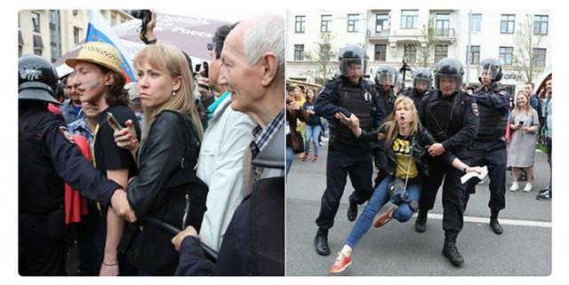 Известная оппозиционерка умоляла ОМОН задержать ее на Тверской