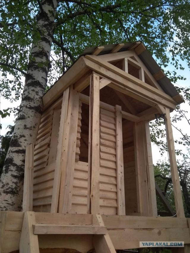 Строительство детского домика. Пошагово.