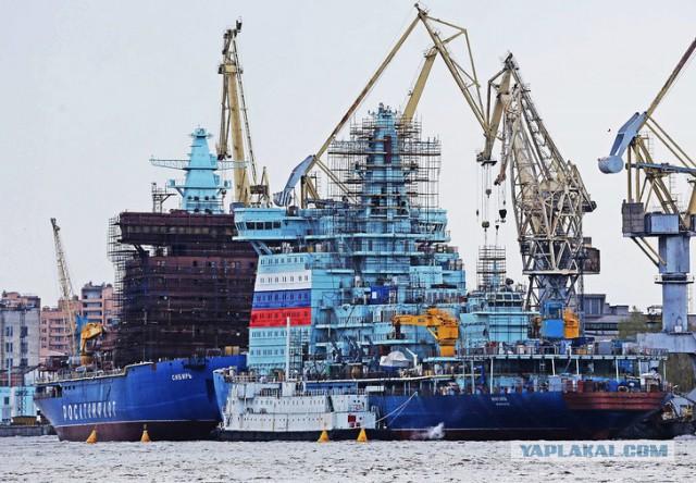 Как достраивается головной атомный ледокол «Арктика»