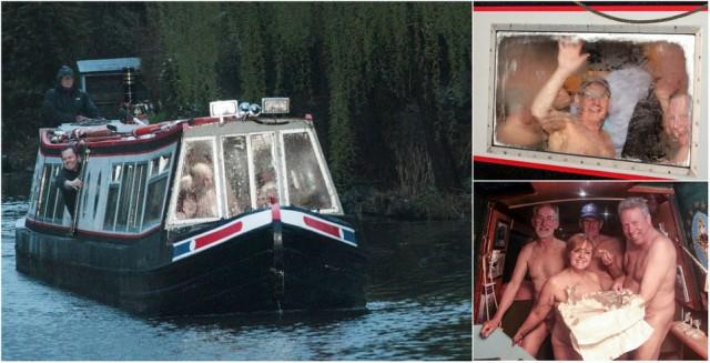 40 голых людей развлекались на лодке в Великобритании - не дай боги это увидеть вживую