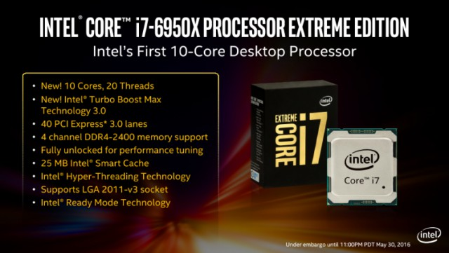 Intel представила 10-ядерный процессор за $1723
